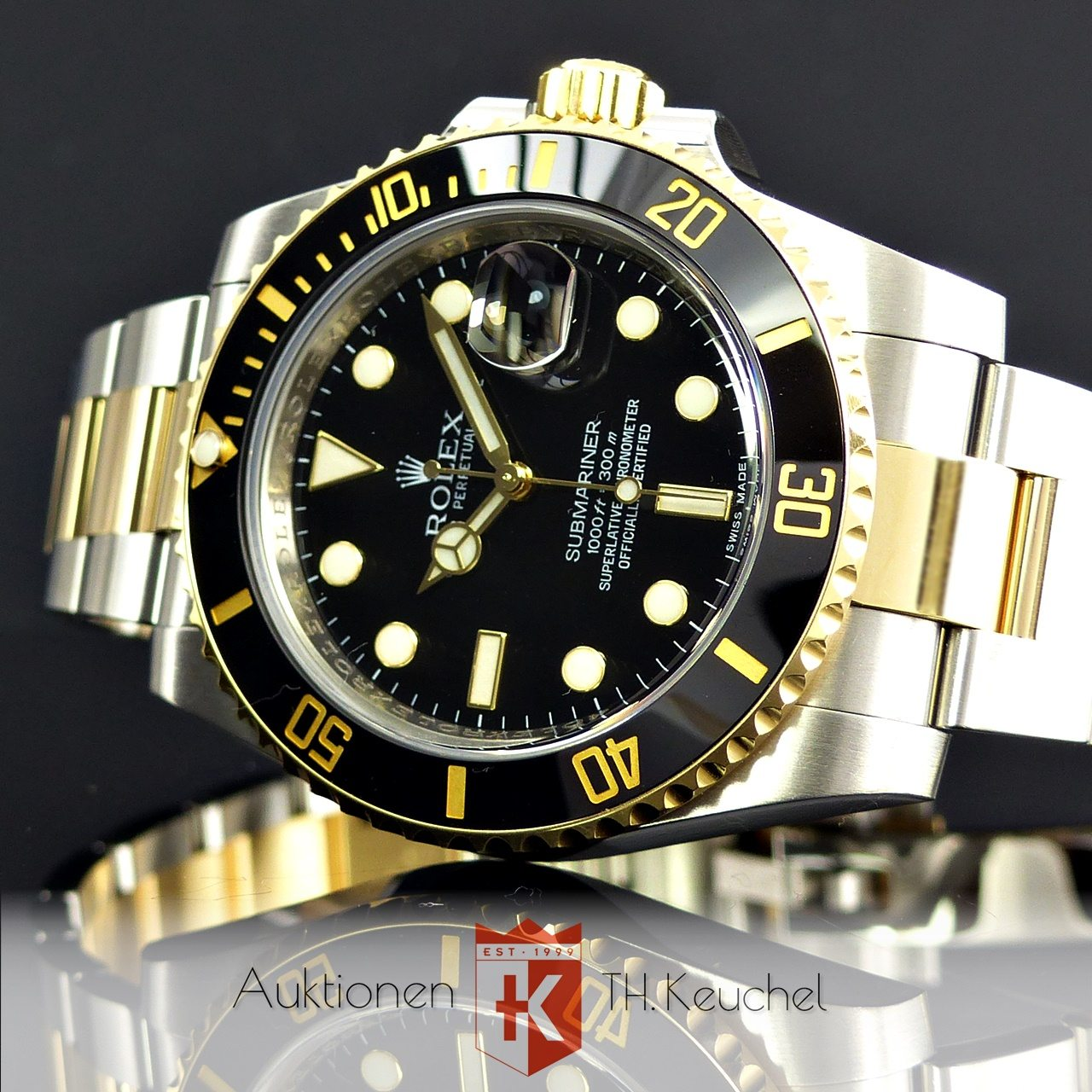 rolex submariner gold stahl ref 116613ln full set lc eu neuwertig 2010 auktionen th keuchel. Black Bedroom Furniture Sets. Home Design Ideas