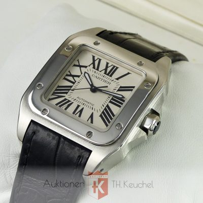 Cartier Santos 100 Automatic Medium Full Set 2016 Ref. W20106X8