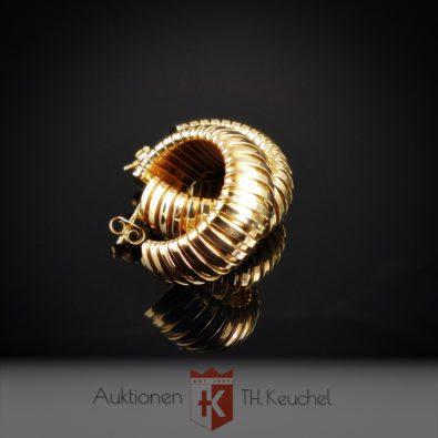 Elegante Creolen 18K / 750 Gelbgold 15,8 gr Wert ca. € 1.600.-