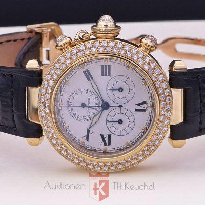 Cartier Pasha Chrono 18K Factory Diamonds Ref. 1354 1 Quarz