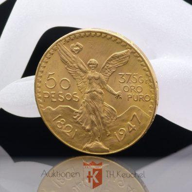 "Goldmünze 50 Pesos Mexiko ""Centenario"" 41,67 g 37,5 g oro puro"