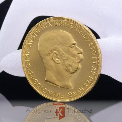 Goldmünze Österreich 100 Kronen 33,88 g 900 Gold offizielle Nachprägung 1915