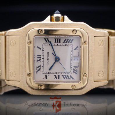 Cartier Santos Galbée großes Modell 29 x 41 mm Gold 18K/750 Ref. W20009 mit Etui