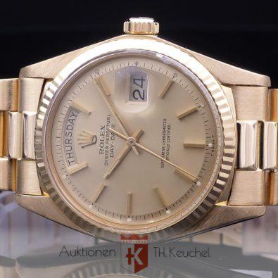 Rolex Oyster Perpetual Day Date 18K 750 Gold Ref. 1803 m. Box und Rechnung über € 11.780.-