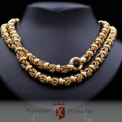 Königskette Erbskette gemischtes Muster Gold 585 / 14K ca. 80 cm D: 8,0 mm 54,7 gr Wert ca. € 4.700.-