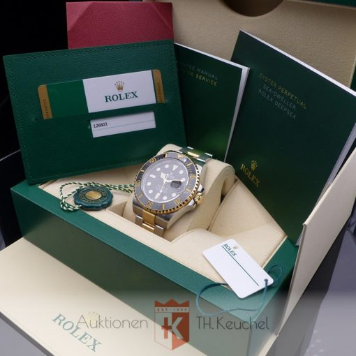 Rolex Oyster Perpetual Sea-Dweller Stahl / Gold Full Set 07/2019 LC 100 Wempe Ref. 126603
