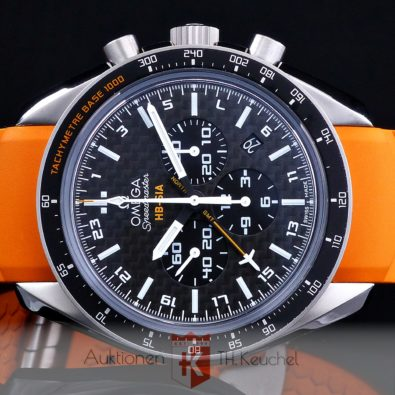 Omega Speedmaster HB‑SIA Co‑Axial GMT Chronograph Numbered Edition 44,25 mm Full Set 321.92.44.52.01.003