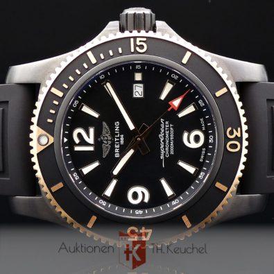 Breitling Superocean Automatic 46 Black Steel Roségold Ref. U17368221B1S1 ungetragen Full Set 09/2020