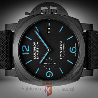 Panerai Luminor Marina Base 44 Automatic Carbotech ungetragen 12/2020 Full Set PAM01661