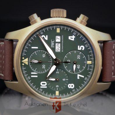 IWC Pilot's Watch Chronograph Spitfire Bronze Full Set ungetragen 02/2021 Rechnung € 7.000.- Ref. IW387902