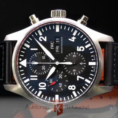 IWC Pilot's Watch Chronograph 02/2021 Ref. IW377709 | keuchel-auktionen | Uhren Schmuck Edelmetalle Gold | Ankauf Verkauf | Grünstadt Pfalz