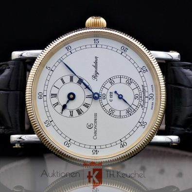 Chronoswiss Regulateur Automatique Gold Edelstahl Glasboden Ref. CH1222