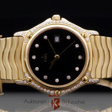 Ebel Sportwave Classique Armbanduhr Gold 18K Diamanten Ref. 883909 110,5 g