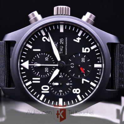 IWC Pilot's Watch Chronograph Top Gun Keramik Full Set ungetragen 03/2021 Ref. IW389101