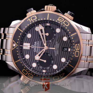 Omega Seamaster Diver 300M Chrono Full Set Gold Stahl 210.20.44.51.01.001