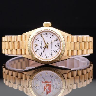 Rolex Oyster Perpetual Lady No Date 18K 750 Gold Ref. 67198 mit Zertifikat