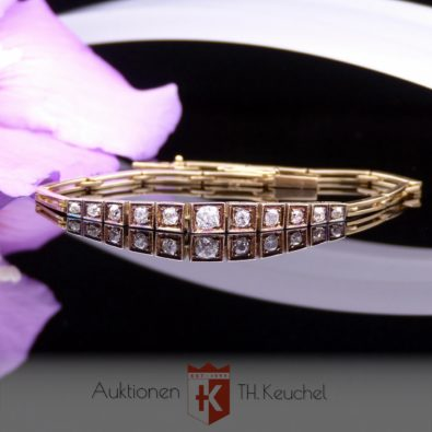 Armband Art Deco Gold 14K 585 mit Diamanten