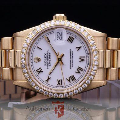 Rolex Datejust 31 Brillantlünette 18K Gold Ref. 68278