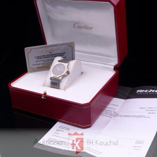 Cartier Santos Ronde Octagon Automatique Gold Stahl 30 mm Ref. 2966