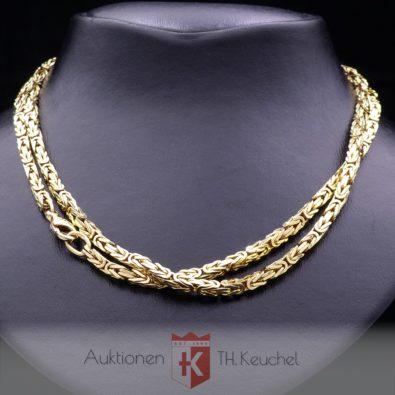 Königskette Gelbgold 585 / 14K ca. 90 cm Wert ca. € 4.500.-